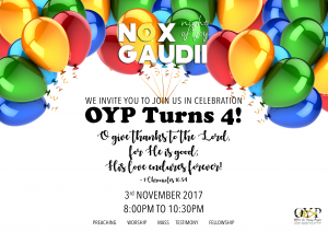 Nox Gaudii: 3rd November 2017 @ OFFICE FOR YOUNG PEOPLE  | Singapore | Singapore