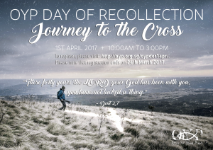 OYP Day of Recollection: 1st April 2017 @ OFFICE FOR YOUNG PEOPLE  | Singapore | Singapore