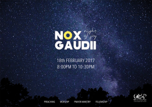 Nox Gaudii: 18th February 2016 @ OFFICE FOR YOUNG PEOPLE | Singapore | Singapore