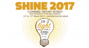 SHINE! Combined Tertiary Retreat: 14th to 17th March 2016 @ OFFICE FOR YOUNG PEOPLE  | Singapore | Singapore