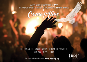 Come Alive: An Evening of Worship with Maria Vadia @ Office for Young People | Singapore | 0
