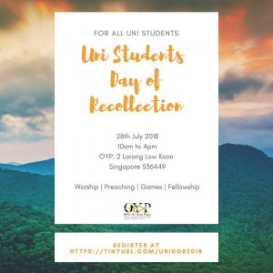 Combined Universities Day of Recollection 2018